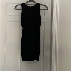 Black dress with slits